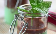 Verrine pistache-chocolat