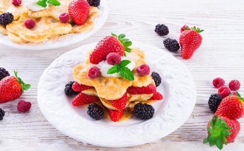 Pancakes aux fruits rouges
