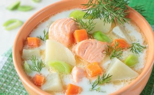 La soupe de poisson à la crème