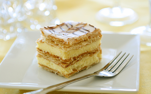 Mille-feuille à la vanille