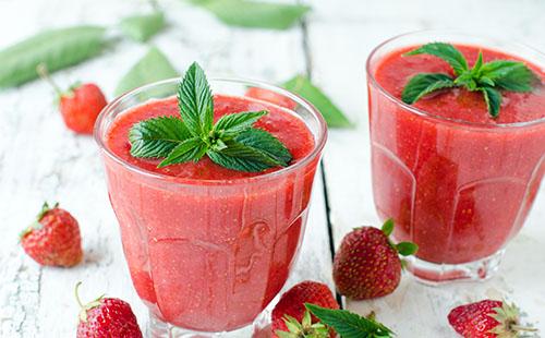 Smoothie de fraise et de pastèque