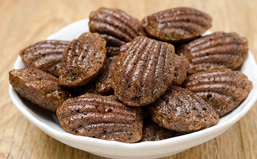 Madeleines fondantes au chocolat