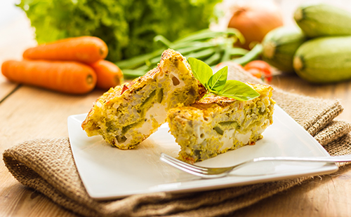 Mini clafoutis fromager aux courgettes