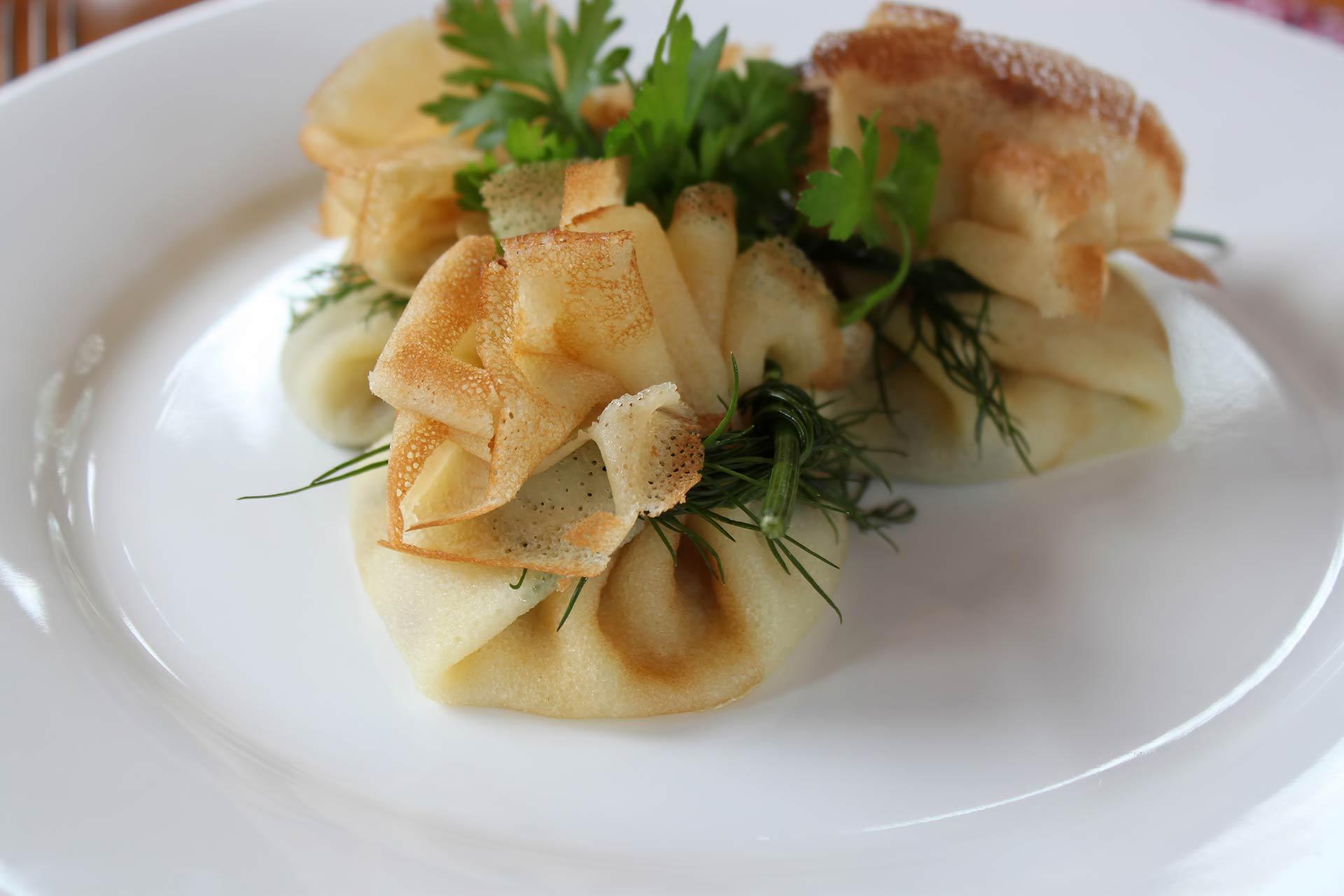 Aumonière de légumes au fromage frais