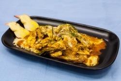 Poulet au curry au micro-ondes