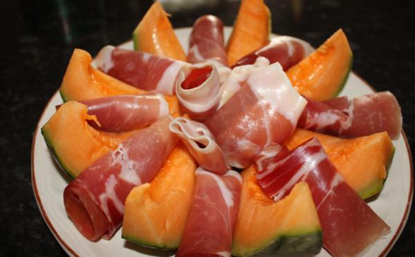 Melon et jambon de Parme