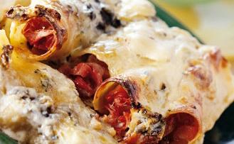 Cannellonis gratinés au fromage
