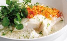 Blanquette de cabillaud et riz