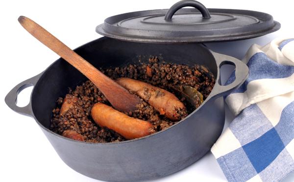 Saucisses de porc aux lentilles et carottes