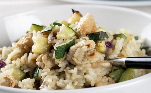 wecook risotto de courgettes aux champignons. Black Bedroom Furniture Sets. Home Design Ideas