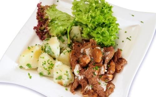 Boeuf Strogonoff aux pommes de terre