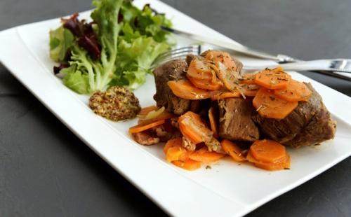 Boeuf braisé aux carottes