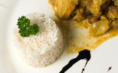 Filet de porc au curry et aux fruits