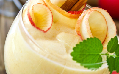 Crème dessert aux pommes