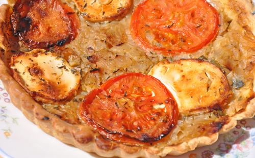 Tartelette tomate chèvre et basilic