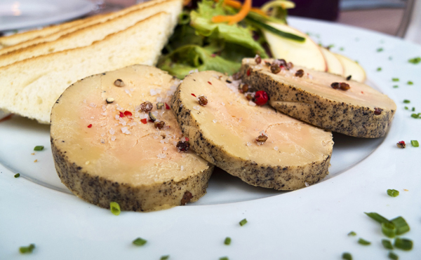 Foie gras croustillant et fondant