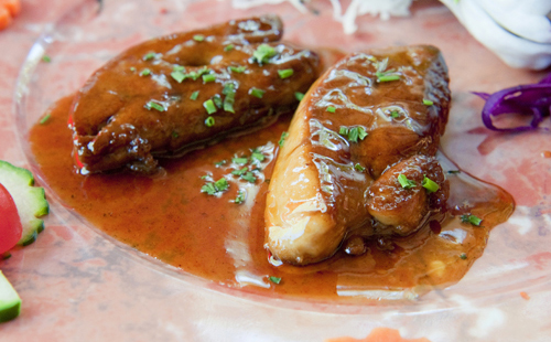 Foie gras poêlé aux pommes