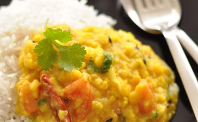 Curry de lentilles aux carottes
