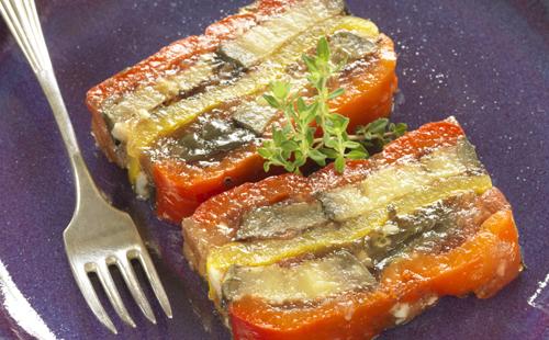 Millefeuille de courgettes et tomates