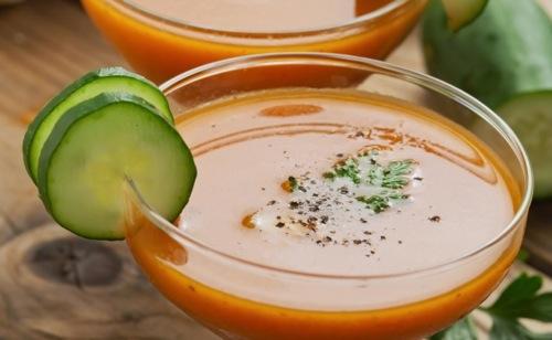 Gaspacho de poivron au vinaigre de Xérès