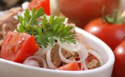 Salade tomate et thon
