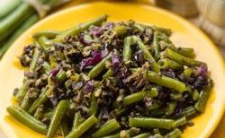 Salade de haricots verts et oignon
