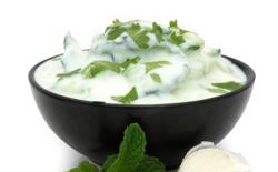 Mezze yaourt-menthe