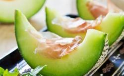 Melon vert et jambon de Parme