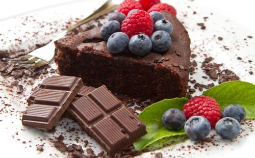 Moelleux chocolat-fruits rouges