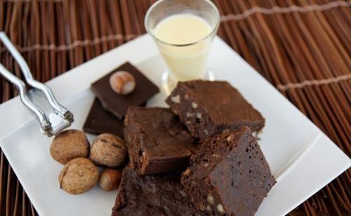 Brownies au chocolat et aux noisettes
