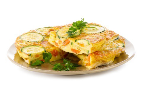 Omelette persil carottes courgettes