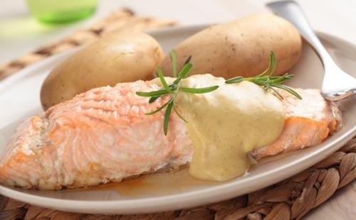 Salade de pommes de terre au saumon fum norv ge wecook - Salade pomme de terre saumon fume ...