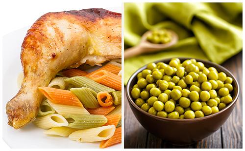 Wecook cuisse de poulet p tes et petits pois - Cuisse de poulet calories ...