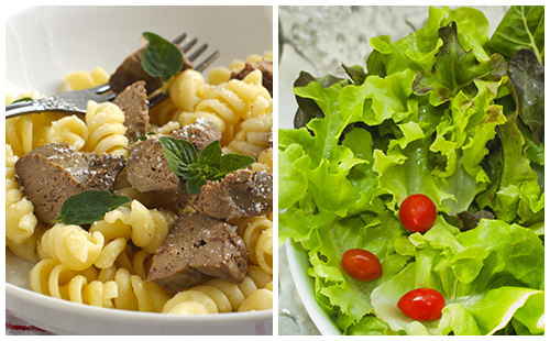 Wecook foie de veau p tes et salade verte - Salade verte calorie ...