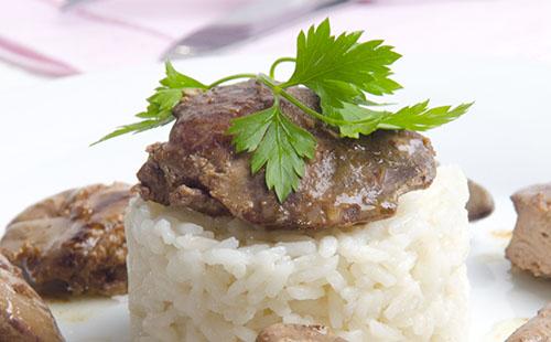 Wecook foie de veau et riz - Cuisiner le foie de veau ...