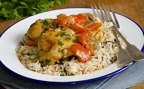 Wecook cuisse de poulet et riz la tomate - Cuisse de poulet calories ...