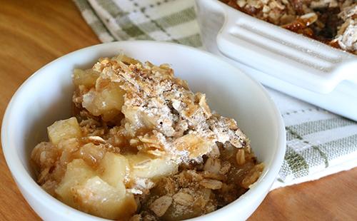 Crumble aux pommes et flocons d'avoine