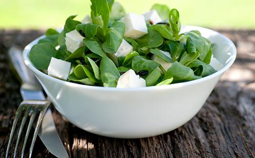 Salade de mâche et champignons