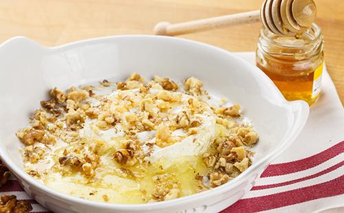 Fromage blanc au miel et aux noix