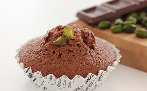 Madeleines au chocolat et pistache