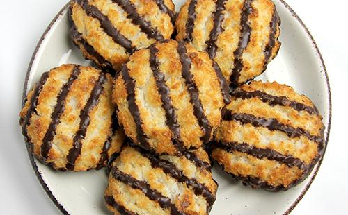 Rochers coco tigrés au chocolat au lait