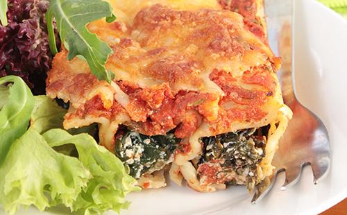 Cannelloni à la Florentine et salade