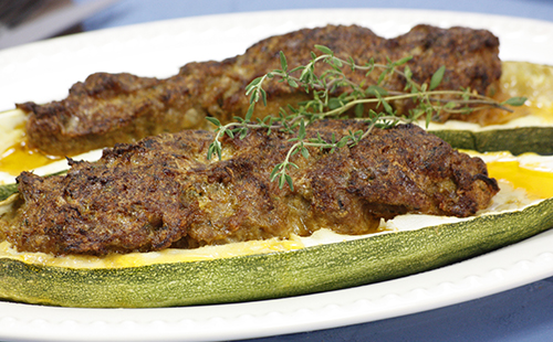 Courgettes farcies au steak haché