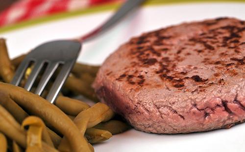 Steak haché et haricots verts