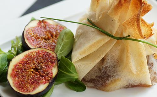 Aumonière de foie gras aux figues