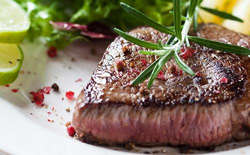 Bifteck et salade