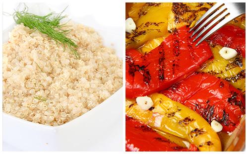 Quinoa aux poivrons grillés