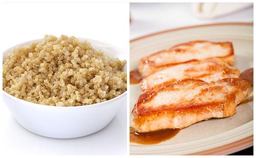 Côte de porc et quinoa