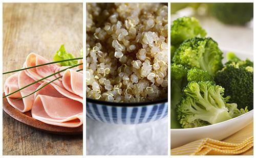 Quinoa au jambon et brocolis