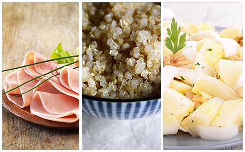 Quinoa au jambon et salade d'endives